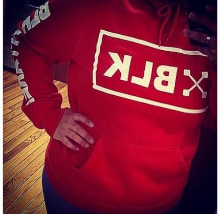 """Unisex RED """"XBLK-BLKAPPAREL"""" Hoodie"""