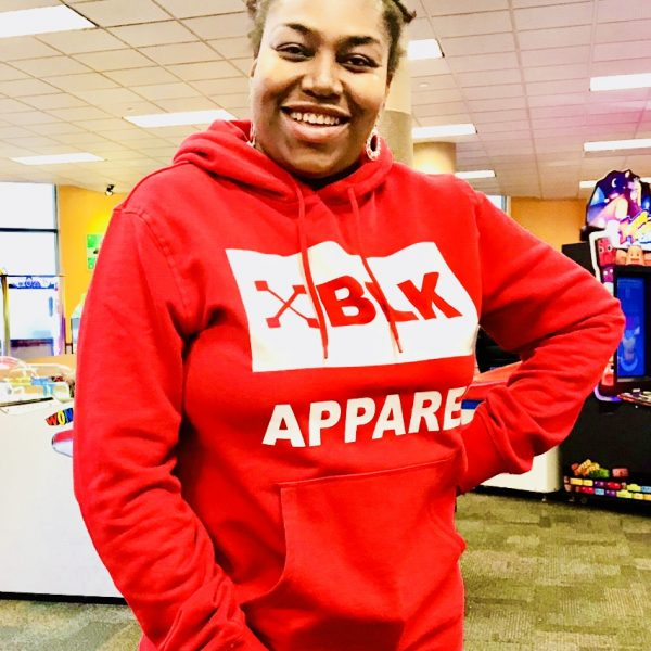 XBLK APPAREL_red and white hoodie for women and men