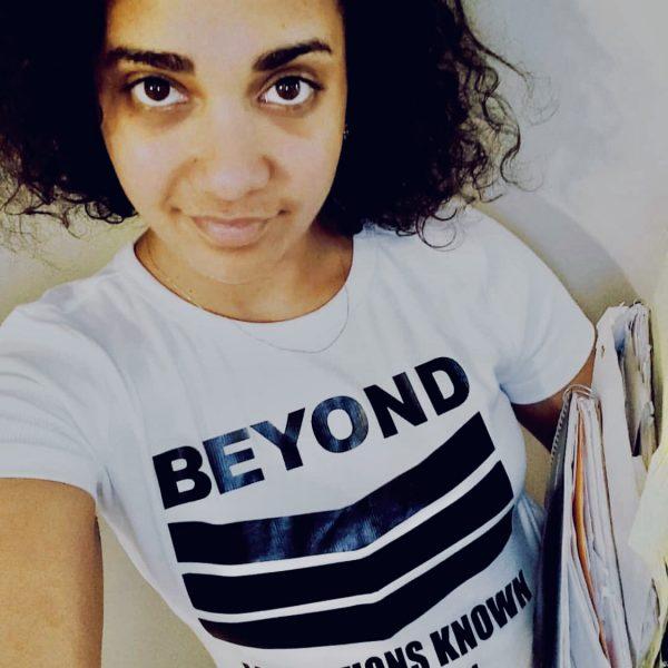 "Women's White ""Beyond Limitations Known"" T-shirt"
