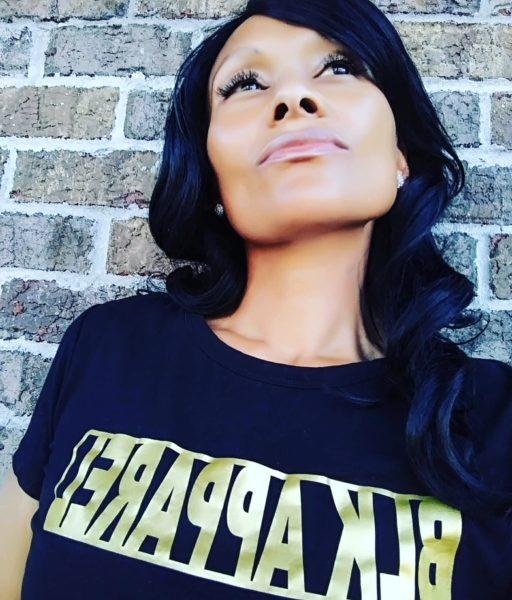 "Women's Black ""BLKAPPAREL Gold"" T-shirt"