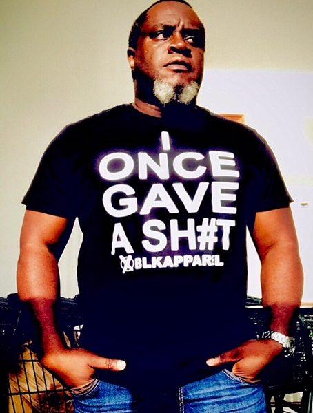 "Men's Black ""IDONTGIVEASH#T TEE"""