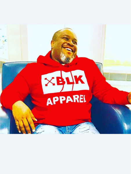 XBLK RED & WHITE HOODIE